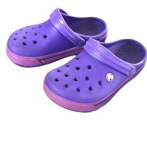 Crocs purple and pink size 2J